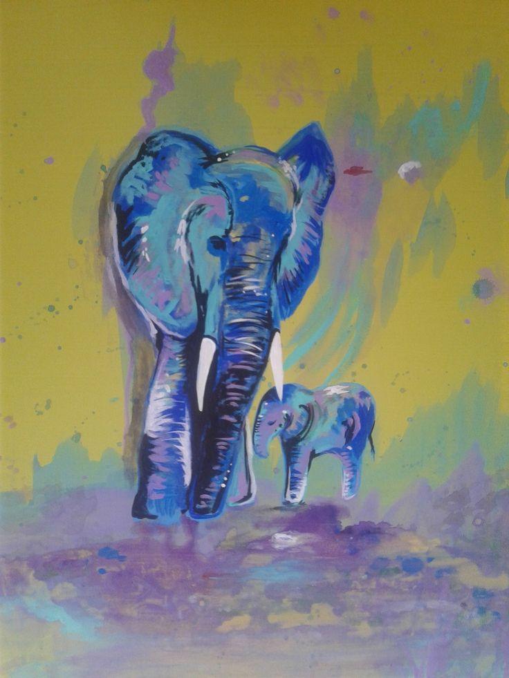 """Unconditional"" acrylic on canvas."