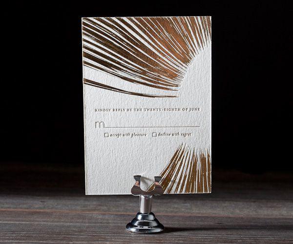 Letterpress Wedding Invitations | Glamorous Blooms Design | Bella Figura Letterpress