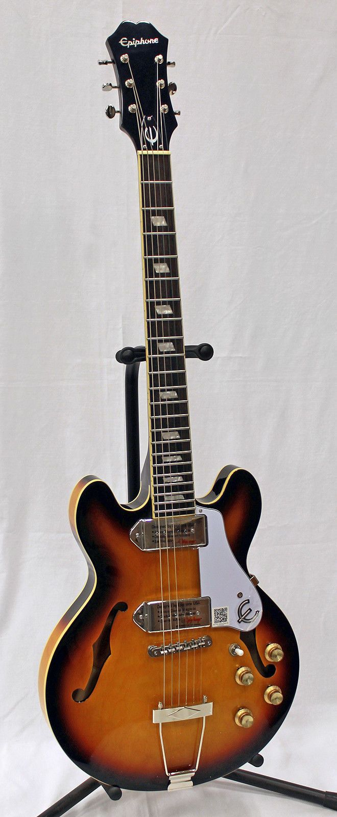 Epiphone ETCCVSNH1 Legendary Vintage Sunburst Casino Coupe Electric Guitar The Epiphone Casino Coupe is the legendary Casino reborn in an ES-339 body ... #coupe #electric #guitar #casino #sunburst #legendary #vintage #epiphone