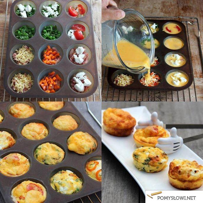 Pomysł na śniadanie w 15 min - jajeczne muffinki