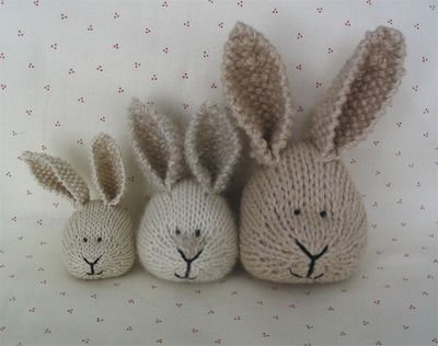 Little cotton Rabbits, using different weights of yarn