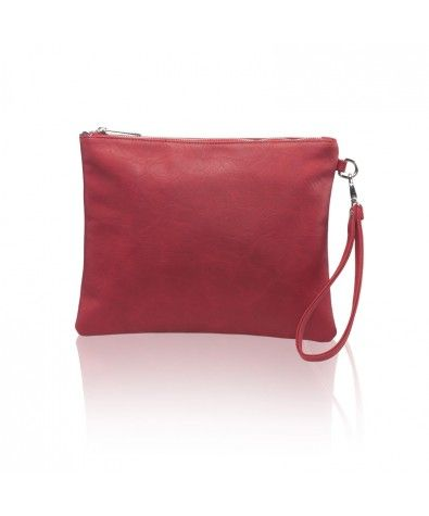 The Maia Red is Nella Bella's carry-all pouch that is perfect for less-is-more wardrobes and events. Large zippered top, lined interior with zippered inside pocket, this little pouch also comes with a removable wristlet.