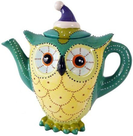 Jameson & Tailor Eule -ADELE- Teekanne Tee Saft Kinder Kanne Keramik handbemalt: Amazon.de: Küche & Haushalt