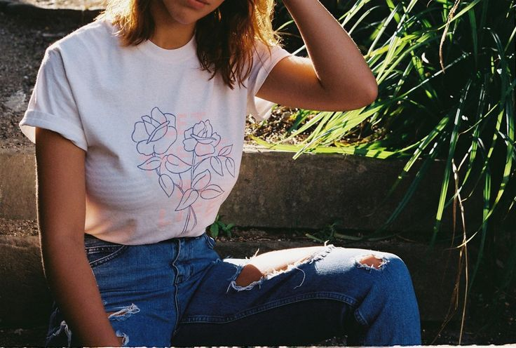 Roses White T-Shirt | The Bright Life