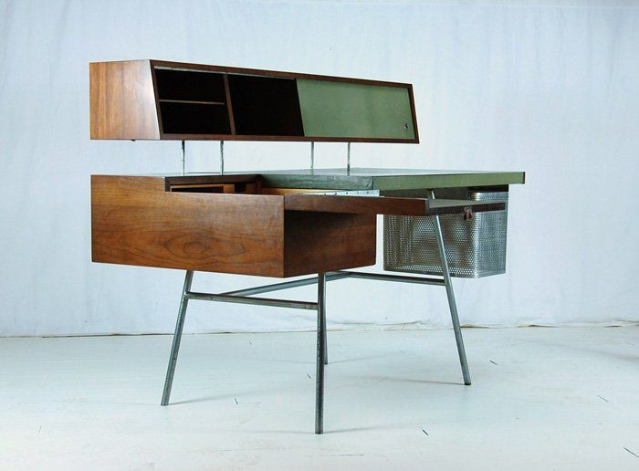 Herman Miller, USA 1946, home office desk, model #4658. Walnut,