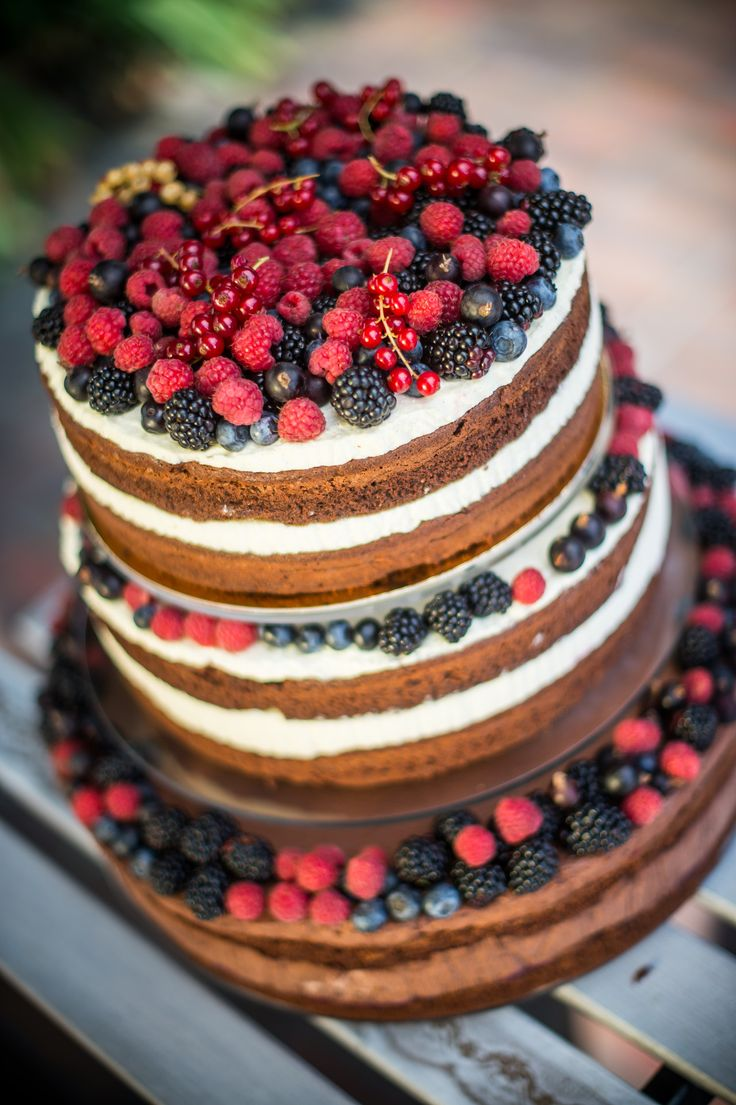 wedding cake happines color love naked cake vintige cake birthday cake fruit