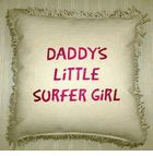 Daddy's Little Surfer Girl Throw Pillow! Great accent pillow!