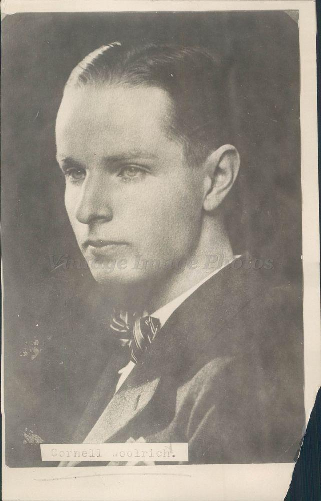 1925 Photo Cornell Woolrich Author American Novelist Short Story William Irish