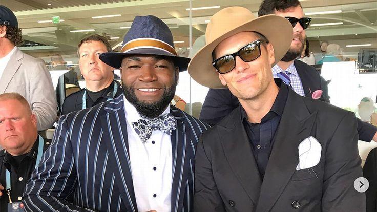 Tom Brady, David Ortiz make fashionable appearance at Kentucky Derby