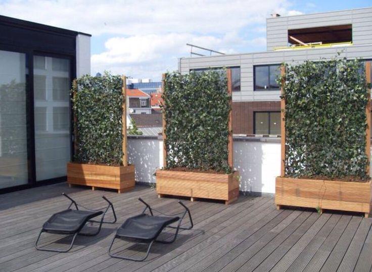 25 beste hek idee n op pinterest houten schuttingen achtertuin hekken en hekwerk - Buitenkant terras design ...