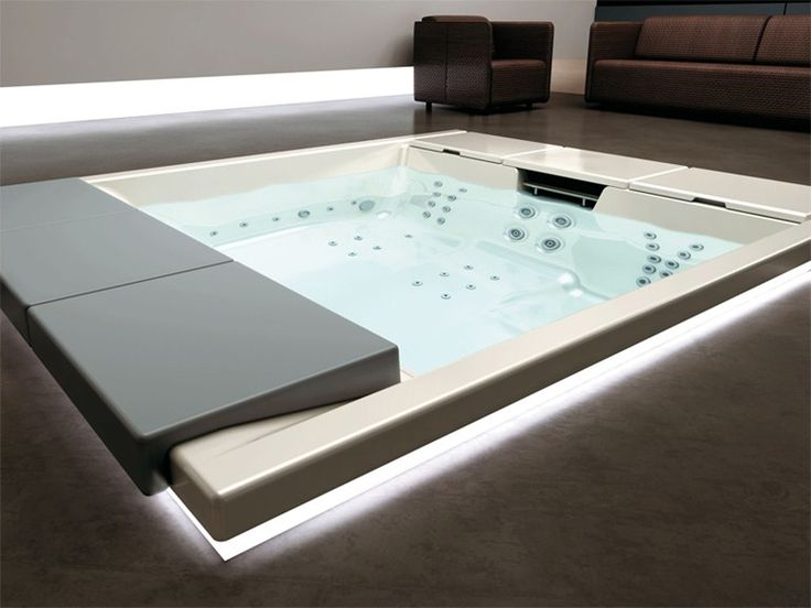 BUILT-IN HOT TUB 4-SEATS SEASIDE 640 HYDROSPA COLLECTION BY TEUCO GUZZINI | DESIGN TALOCCI DESIGN