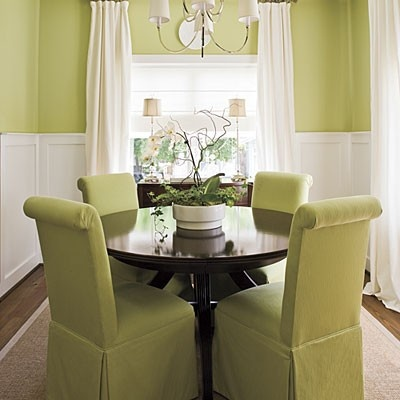 Make a Small Dining Room Look Larger  Visually expand a small dining room  by keeping the palette monochromatic and furnishing it with a round table  and  48 best Dining room images on Pinterest   Home  Round tables and  . Arlington Round Sienna Pedestal Dining Room Table W Chestnut Finish. Home Design Ideas