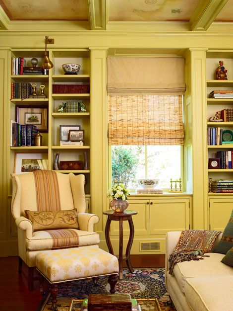 I have a great affection for built-in bookcases.  I'm still dreaming of building some!