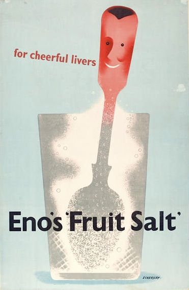 Tom Eckersley Enos Fruit salts ad 1950