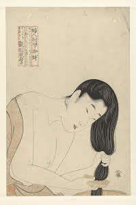 "kitagawa utamaro ""Haren wassen"" 1800 expressionism"