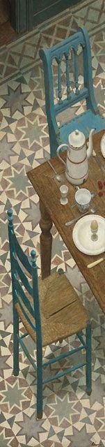 """""""DEJEUNER SUR LES ETOILES"""" - acryl op paneel - 210 x 50 cm"""