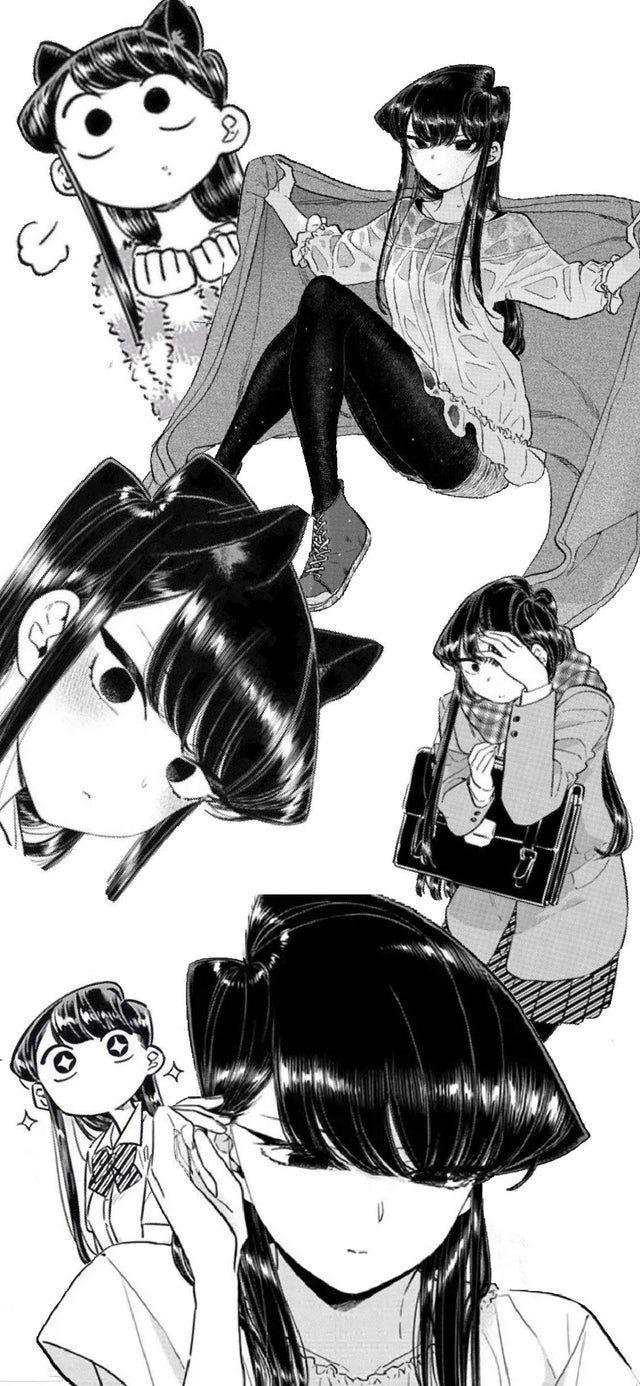 Iphone X Wallpaper I Put Together From Manga Panels Komi San Manga Illustration Manga Anime Wallpaper Iphone