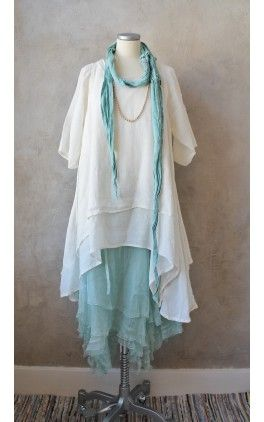 Tunic with similar lines good for me. Make v-neck, sleeveless, navy or royal blue.  Katarina, Cremewhite 1093