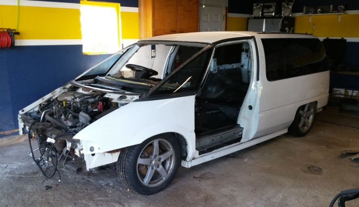1996 Chevy Lumina minivan body over a Pontiac G6 GTP chassis and powertrain. Being built for GRM $2016