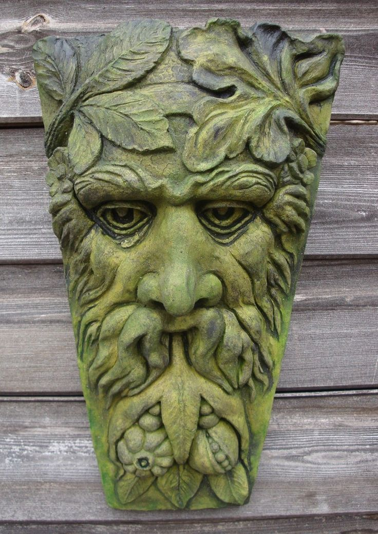 Exceptionnel Harvest Green Man Decorative Wall Plaque Keystone Home Or Garden Ornament  38cmH
