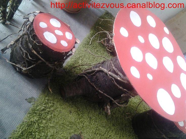 Am�nagement du balcon: Table et chaises champignon!! TUTO