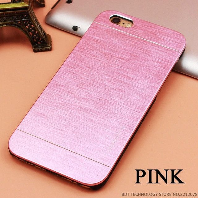 Top Quality Motomo Luxury Metal Brush Gold Case For iPhone 4 4S 5 5S SE 6 6S 7 Plus Aluminum Hard Back Cover Phone Cases Bags