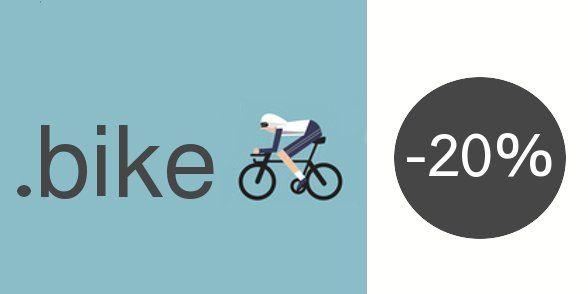 L'extension de domaine en .BIKE est actuellement en promo #cyclisme #vélo