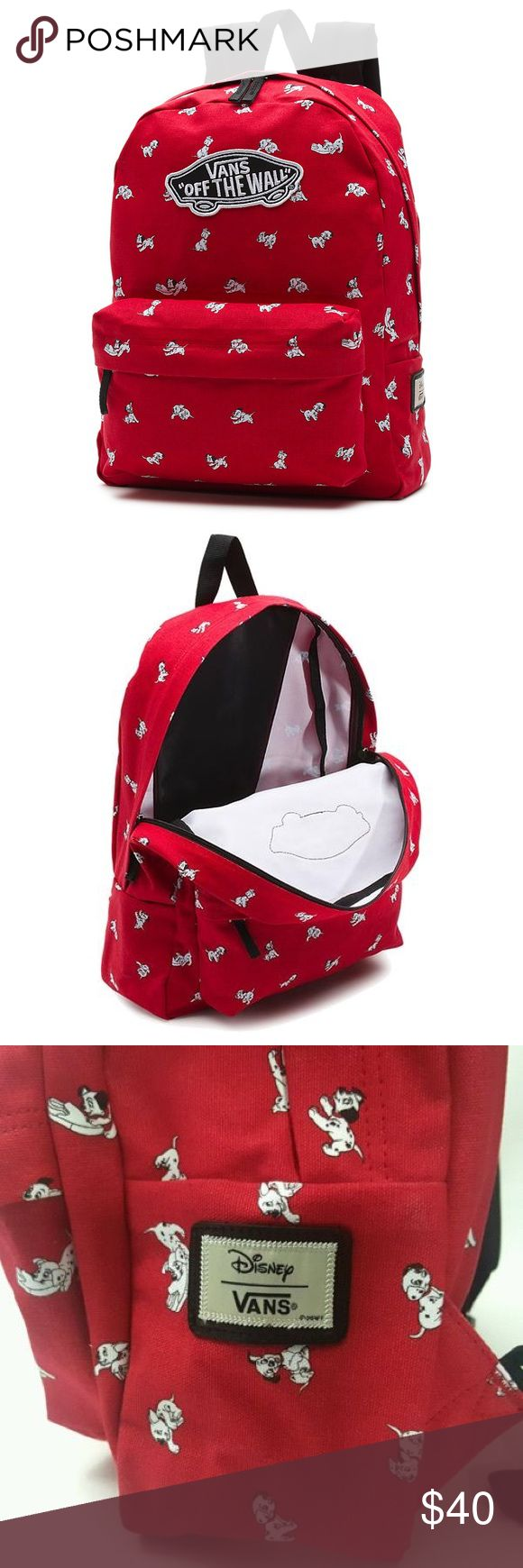 NWT Vans 101 Dalmatian backpack NEW WITH TAGS. LIMITED EDITION. TAGS STILL ON. CAN NOT FIND THIS BACKPACK IN STORES ANYMORE. PRICE IS FIRM. Vans Bags Backpacks