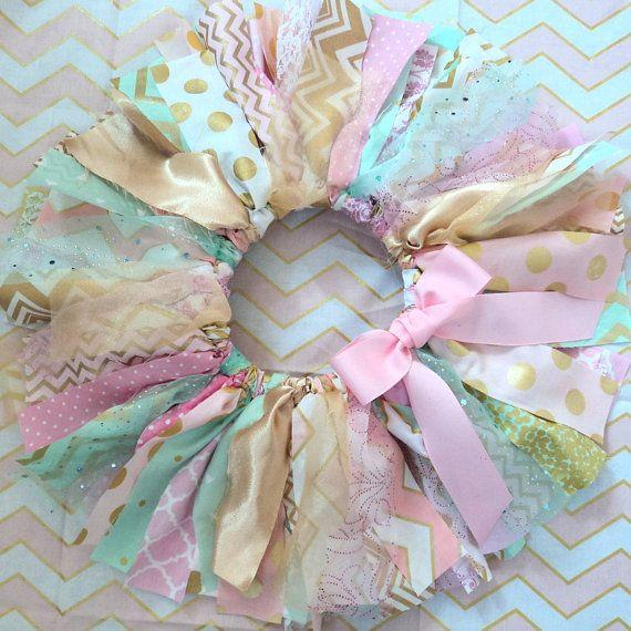 Baby girl Fabric tutu skirt, pink mint gold shabby chic, 1st BIRTHDAY holiday photo shoot, cake smash, custom made, newborn, 1st, 2nd