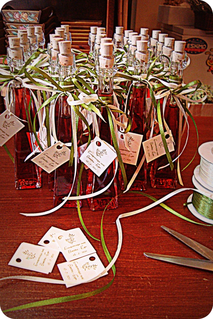 wedding gift Liquer Strawberry (July 2011) Μπομπονιέρα Λικέρ Φράουλα