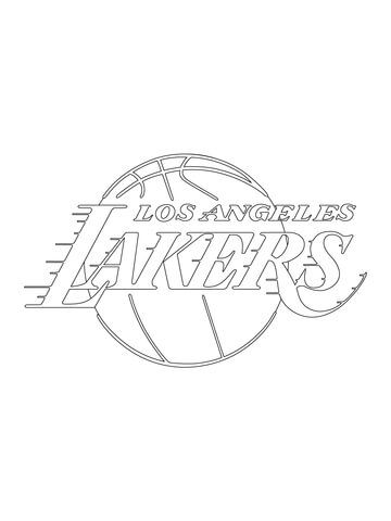 Los Angeles Lakers Logo coloring page from NBA category ...