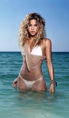 Shakira Movie Poster White Bikini 24in x36 in