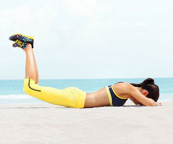 Target your abs, back and butt with The Frog Lift exercise.