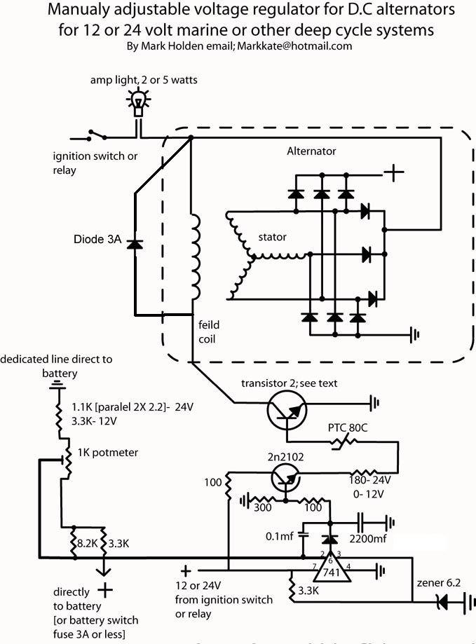 Self build adjustable alternator controler | Electronics
