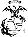 tribal USMC tattoo | Tribal Marine Tattoo by ~ Goodly8663