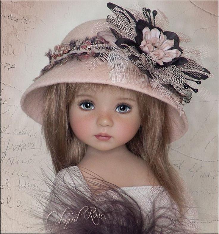 OOAK COLONIAL ROSE Hat 4 Effner Little Darling, Ellowyne, Prudence, BJD by Linda #ClothingAccessories