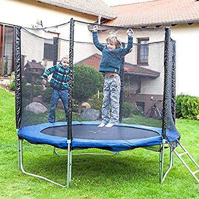 Gartentrampolin Trampolin 250 cm , inkl. Sicherheitsnetz, Leiter und Abdeckplane