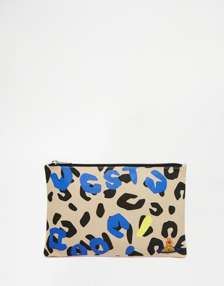 Image 1 of Vivienne Westwood Anglomania Clutch Bag in Leopard Print