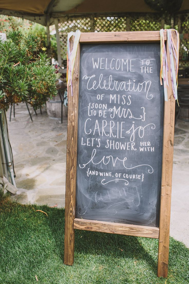 Malibu winery bridal shower sign | Photography: Anna Delores Photography | Planning + Styling: Joelle Charming