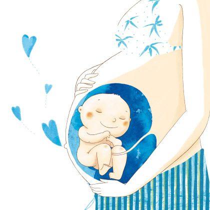 Baby in the belly of a mother | Baby in de buik | #pregnant #zwanger #image #baby-in-belly #baby-in-buik #plaatje #illustration #pregnancy #afbeelding #zwangerschap