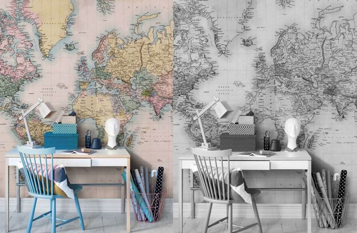 home-office-mapa-vintage