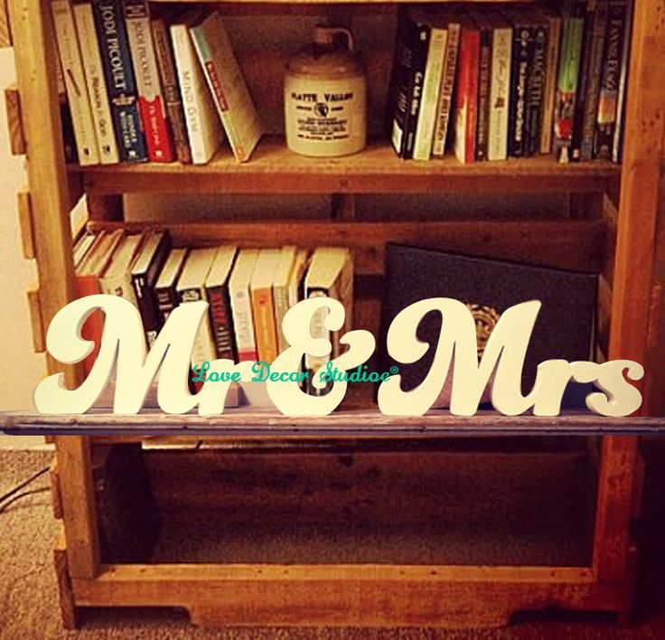 Wedding Letters Mr & Mrs sign  New Funky Font Hand-painted Free-standing