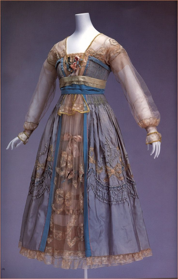 """oquevestiamosnossosavos: Dress by Lucile, 1916. From """"Fashion: A History from the 18th to the 20th Century"""" by Taschen, 2005."""