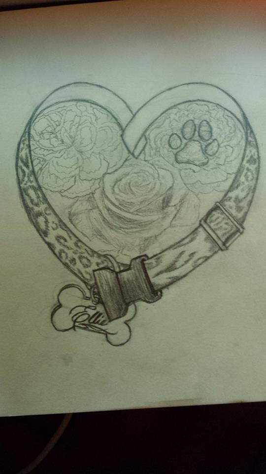 Final Sketch: Dog Memorial Tattoo Design by Nessylov3 ...