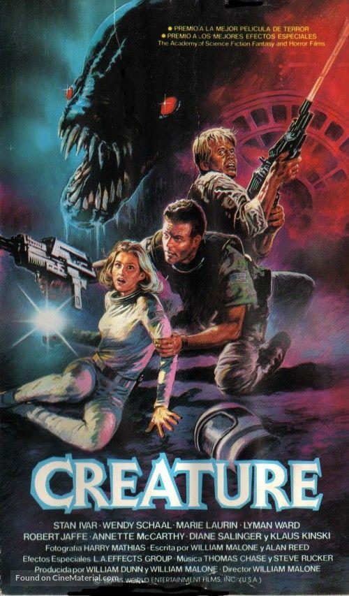 Creature 1985 In 2019 Horror Movie Posters Film