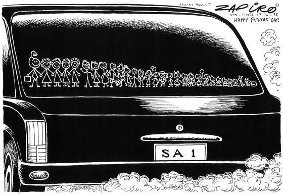 Jacob Zuma Father's Day #Zapiro