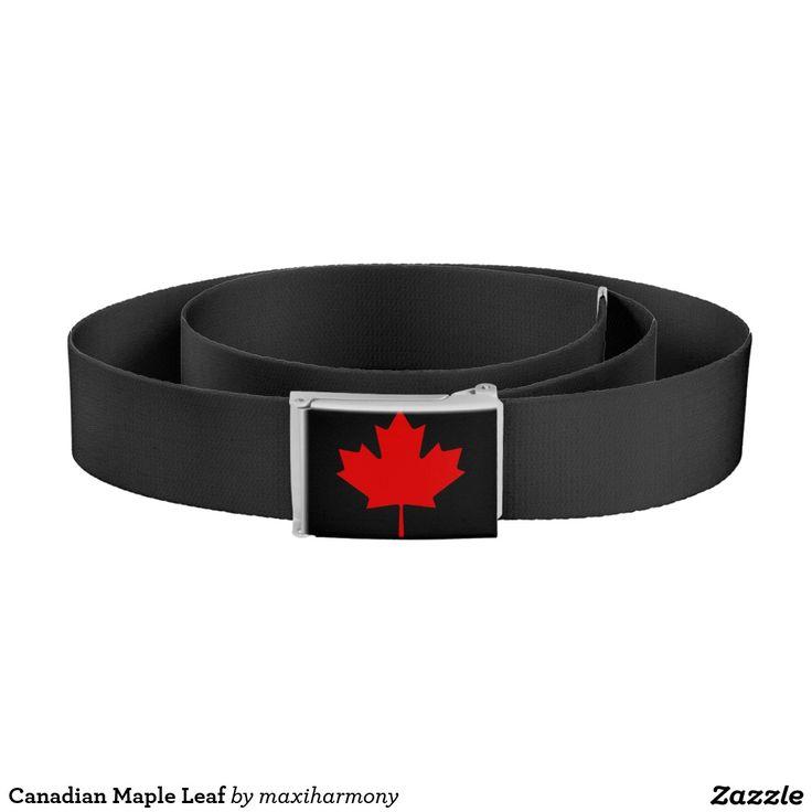 Canadian Maple Leaf Belt