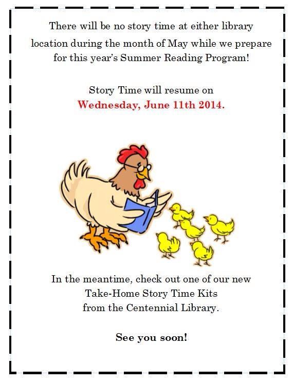 Here is a reminder of our weekly Story Time schedule Just for - resume library