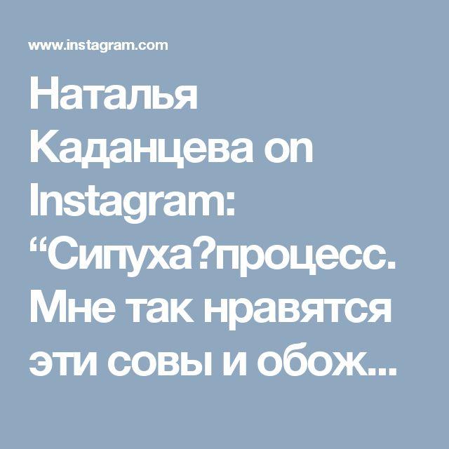 """Наталья Каданцева on Instagram: """"Сипуха♡процесс. Мне так нравятся эти совы и обожаю жасмин!этот запах💫"""""""