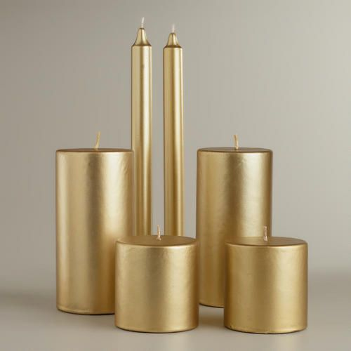 One of my favorite discoveries at WorldMarket.com: Gold Value Pack Candles